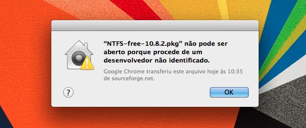 Aviso alerta sobre o bloqueio do aplicativo (Foto: Reprodução/Helito Bijora)