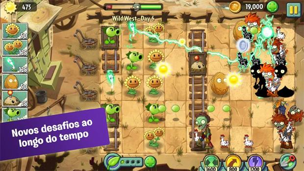 Plants vs. Zombies 2 traz viagem no tempo e zumbis de várias épocas (Foto: Divulgação)