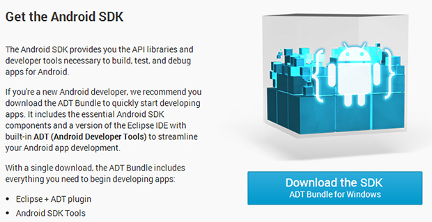 Um dos requisitos para fazer o root é baixar o Android SDK (Foto: Reprodução/Android Developers)