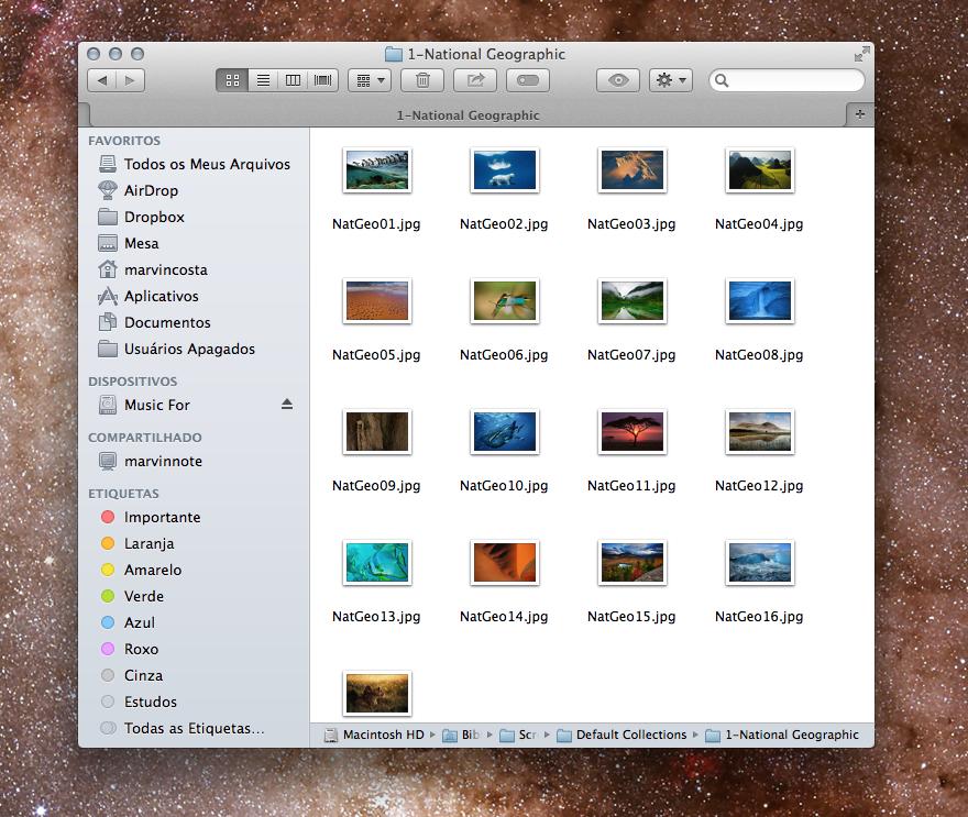 OS X Mavericks tem 43 papéis de parede escondidos; encontre-os no Mac (Foto: Divulgação/Apple) (Foto: Reprodução/Marvin Costa)