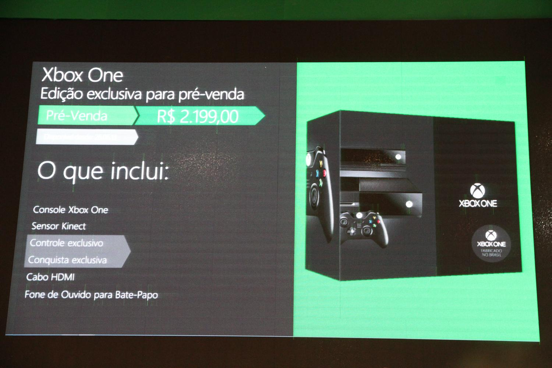 Microsoft confirma preço do Xbox One para o Brasil durante a BGS 2013: R$ 2.199 (Foto: Pedro Cardoso / TechTudo)