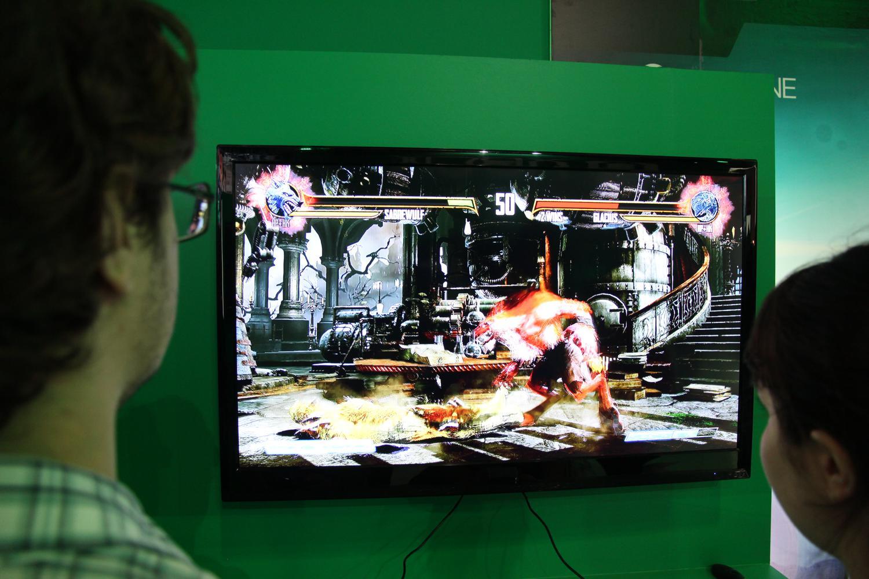 Novo Killer Instinct, para Xbox One, foi aberto para testes na BGS 2013 (Foto: Pedro Cardoso / TechTudo)