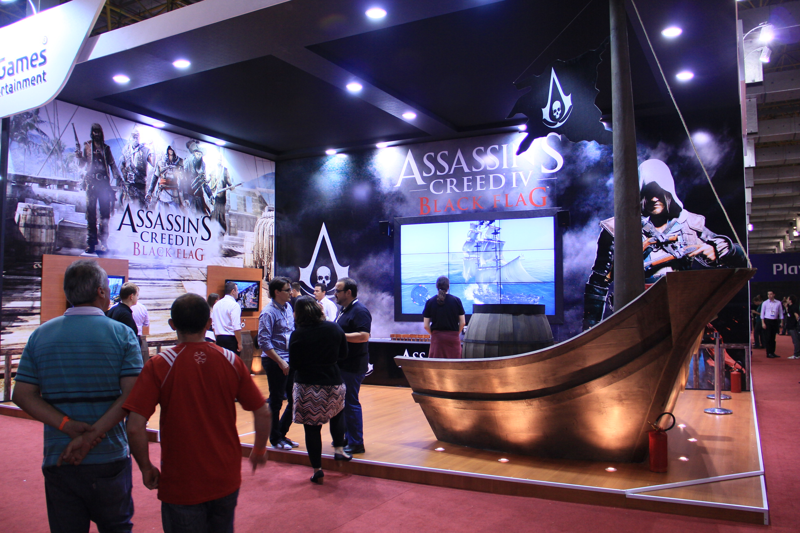O estande de Assassin's Creed 4: Black Flag na BGS 2013 (Foto: Renato Bazan / TechTudo)
