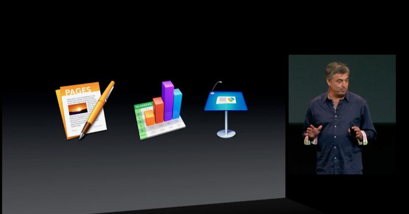 Eddy Cue, executivo da Apple, anuncia pacote do iWork gratuito para novos Macs (Foto: Reprodução/Apple)