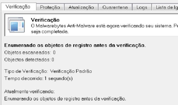 Qualquer programa de anti vírus vai escanear o seu pendrive como se fosse o seu HD. (Foto: Reprodução/Malware Bytes)