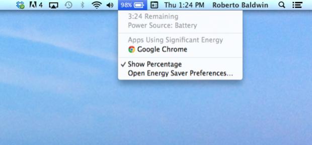 Status de bateria do Mac OS X Mavericks (Foto: Reprodução/Wired)