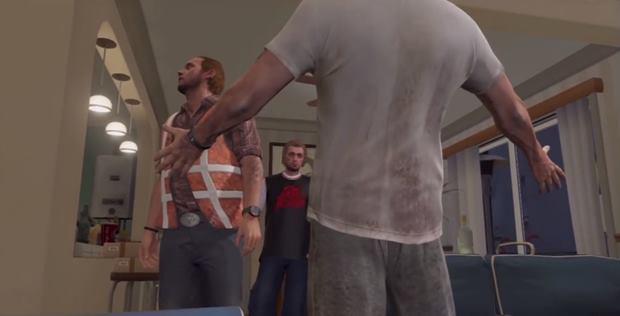 Um dos momentos editados na versão japonesa de GTA 5 (Foto: Kotaku)