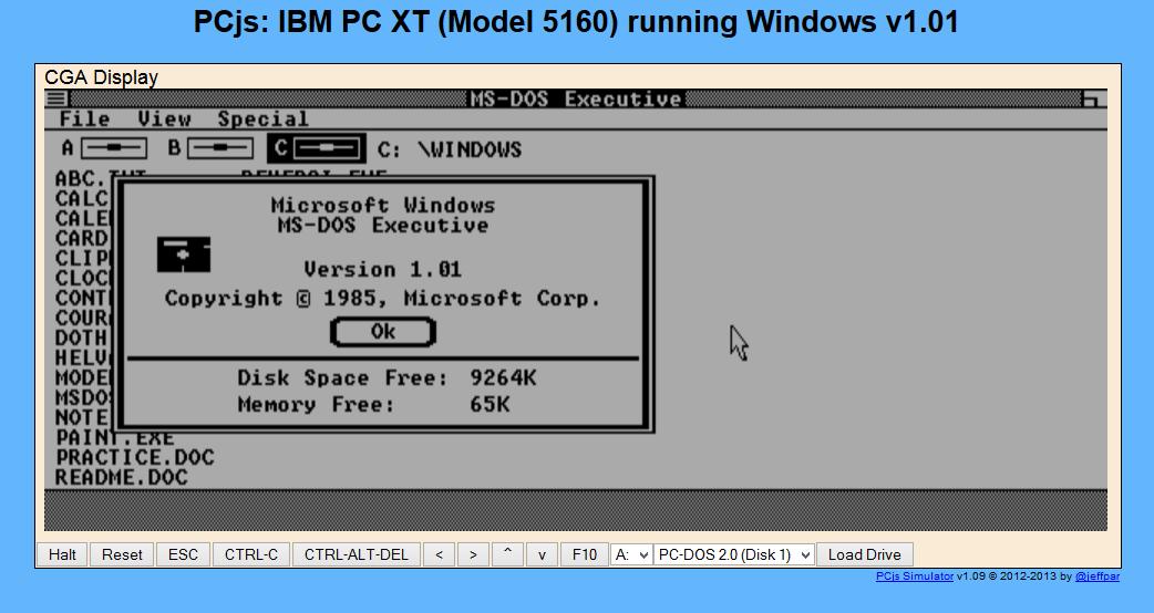 Emulador simula versão antiga do Windows (foto: Reprodução/João Kurtz)