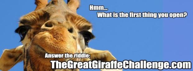 As girafas estão invadindo o Facebook devido ao enigma que se espalhou pela rede social (Foto: Reprodução/ The Great Giraffe Challenge)