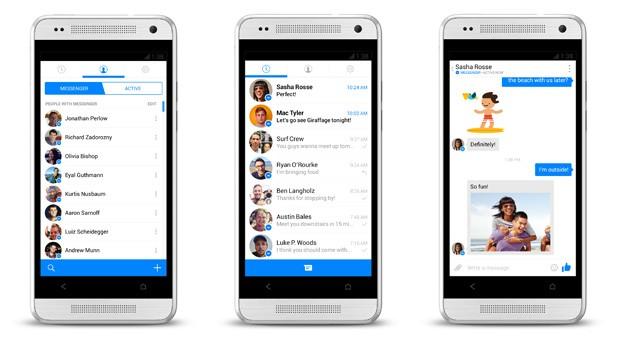Facebook Messenger com um visual totalmente diferente começa a ser testado por usuários de Android. (Foto: Reprodução / Engadget)