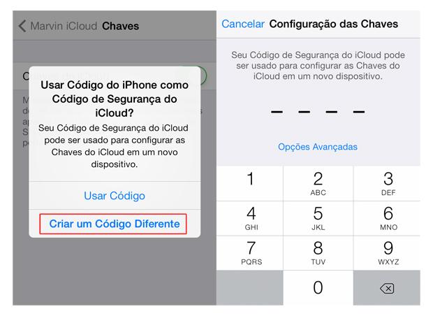Criando um código de segurança para iCloud no iOS 7 (Foto: Reprodução/Marvin Costa)
