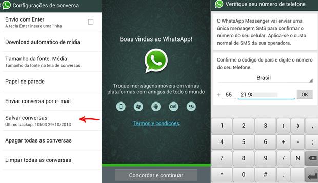 Backup e reativação do WhatsApp depois do nono dígito (Foto: Arte/TechTudo)