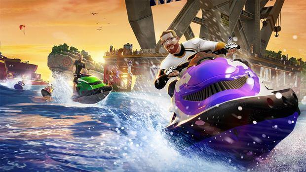 Corridas de jet-ski são umas das atividades de Kinect Sports Rivals (Foto: Divulgação)