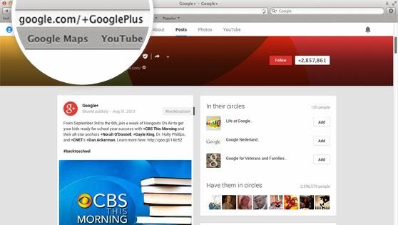 URLs personalizadas agora estão disponível para todos os usuários do Google+ (Foto: Reprodução/Google)