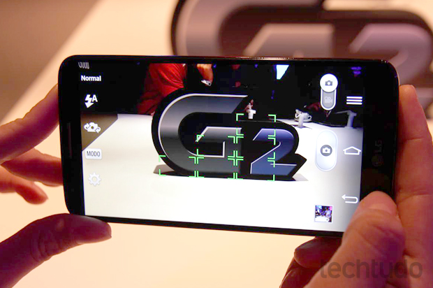 Câmera do LG G2 consegue registrar fotos em ambientes escuros (Foto: Pedro Cardoso / TechTudo)