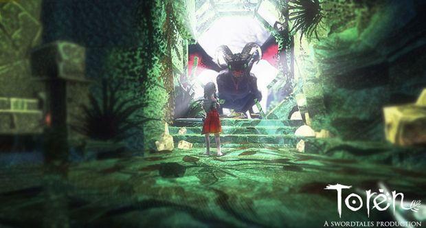 A heroína de Toren encara um monstro parecido com um dragão (Foto: Divulgação)