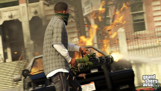 Armas pesadas destroem Los Santos rapidamente. (Foto: Divulgação)