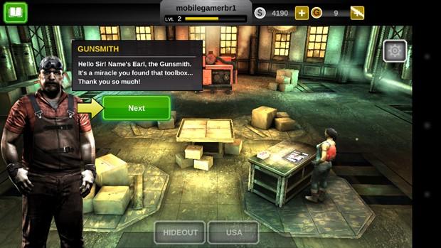NPCs resgatar ajudam o jogador a ter itens melhores (Foto: Reprodução / Dario Coutinho)