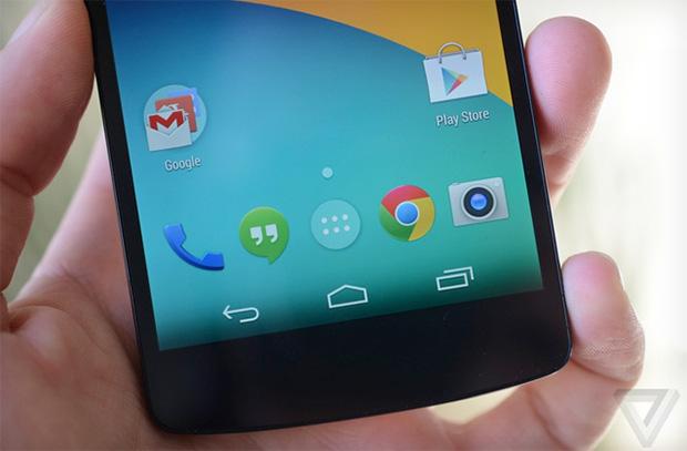 Design do novo Android é bem parecido com Jelly Bean, porém mais limpo e alguns detalhes translúcidos (Foto: Reprodução/The Verge)