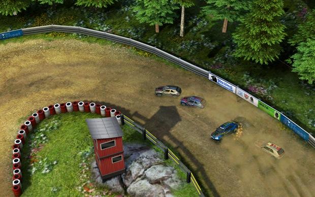 Reckless Racing 2 é um jogo de corrida com visão aérea (Foto: Divulgação)
