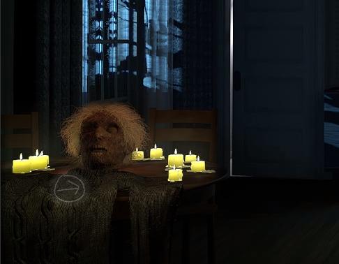 Espantalho lembra filme de terror na página do Bing (Foto: Reprodução/Bing)