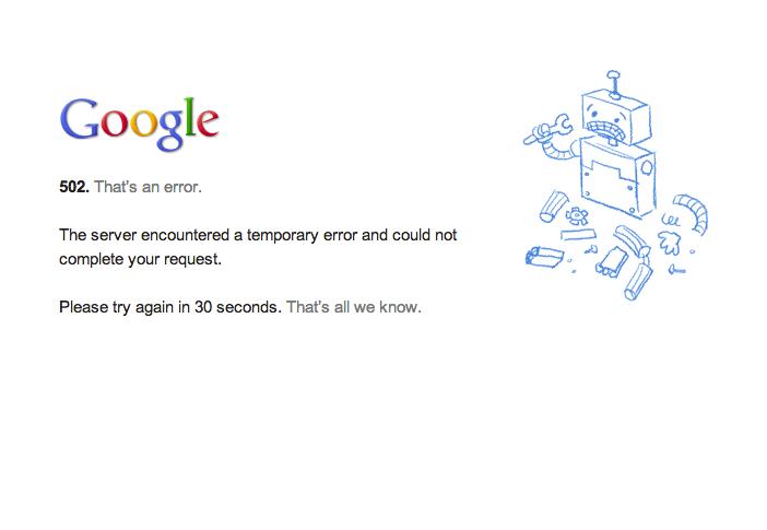 Erro no Gmail tira serviço do Google do ar (Foto: Reprodução/Google)