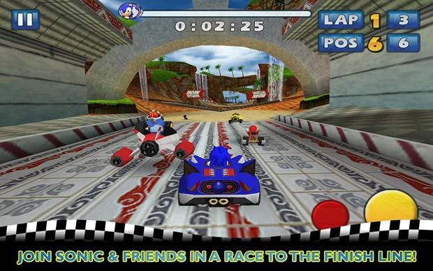 Sonic e seus amigos participam de uma corrida inspirada em Mario Kart (Foto: Divulgação)