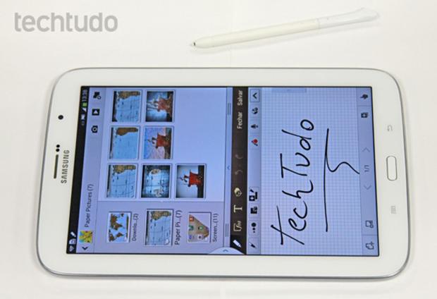 Galaxy Note de 8 polegadas tem como principal vantagem a caneta S Pen