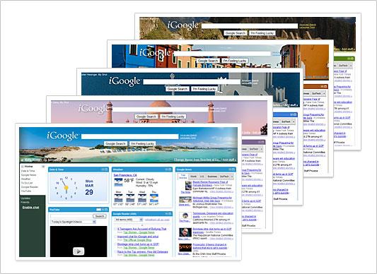 Visual de páginas personalizadas pelo iGoogle (Foto: Reprodução/Google)