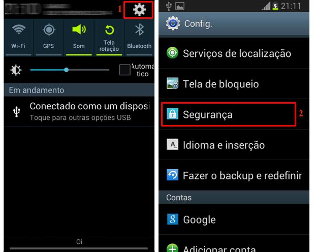 Acesse as configurações de segurança no Android (Foto: Reprodução/Thiago Bittencourt)