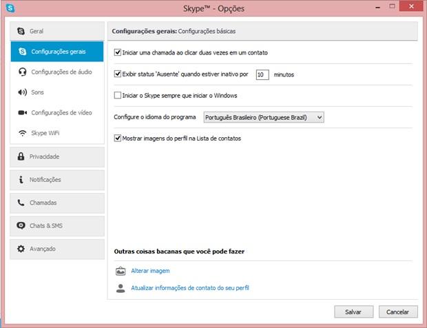 Impedir de conectar automaticamente o Skype ao iniciar o computador (Foto: Reprodução/Carolina Ribeiro)