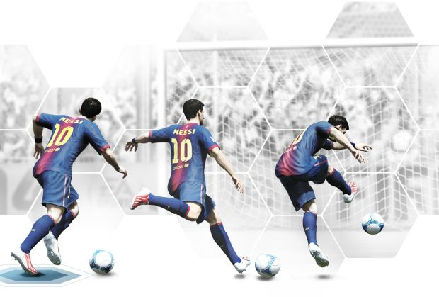 O jogador argentino Lionel Messi em FIFA 14 (Foto: Divulgação/Warner Games)