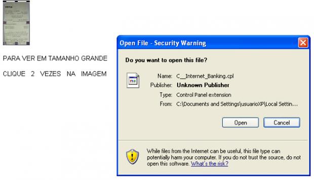 Arquivo malicioso se esconde dentro de documentos de texto (foto: Reprodução/Kaspersky)