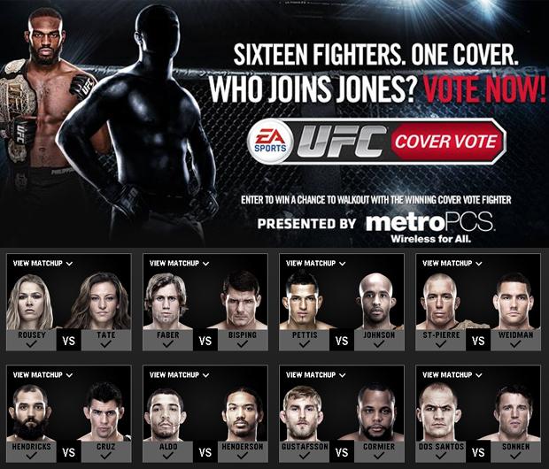 Jon Jones e lutador escolhido por fãs estarão na capa de EA Sports UFC (Foto: Reprodução: Rafael Monteiro)