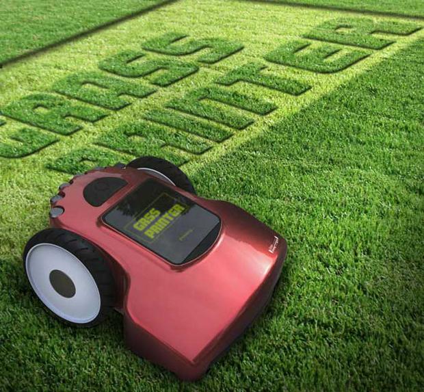 Em fase conceitual, cortador poderá escrever na grama (foto: Reprodução/Red Dot Award)