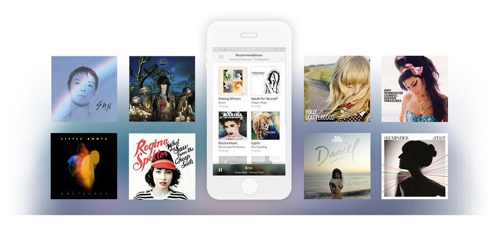 Rdio para iOS agora exibe sugestões baseadas em gosto musical. (Foto: Divulgação / Rdio)