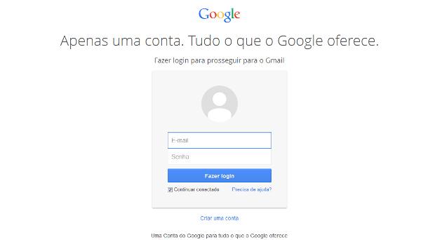 Google unifica login de acesso dos seus serviços em uma só página (Foto: Reprodução/Lívia Dâmaso)