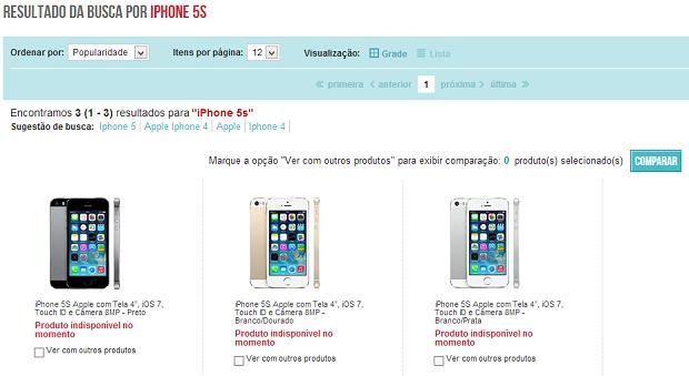 Páginas dos novos iPhones já estão prontas em alguns sites (Foto: Reprodução/Aline Jesus)