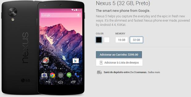 Novo Nexus já está à venda nos EUA (Foto: Reprodução/Aline Jesus)
