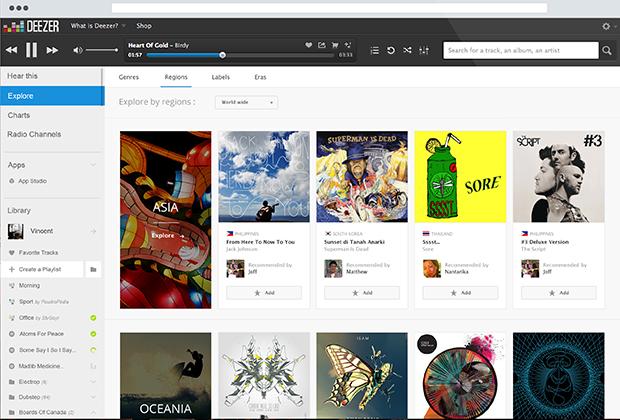 Nova função 'Explore' permite descobrir novos artistas e músicas por gênero e região (Foto: Divulgação)