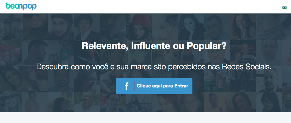 Site do Beonpop analisa sua popularidade no Facebook (Foto: Beonpop)