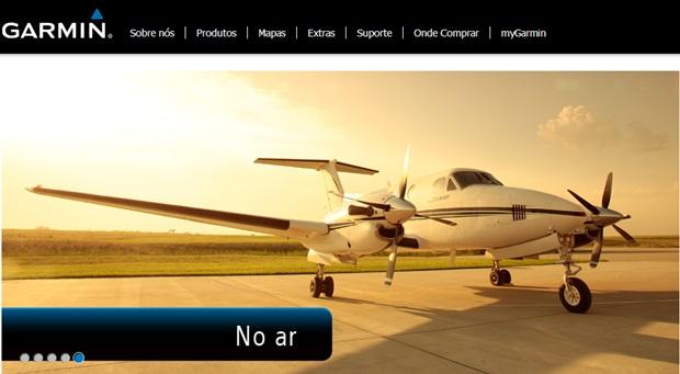 Acesse o site do GPS Garmin (Foto: Reprodução/Carolina Ribeiro)
