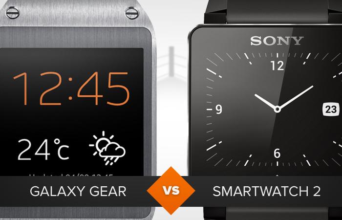 comparativo galaxy gear e smartwatch 2 (Foto: Arte/TechTudo)