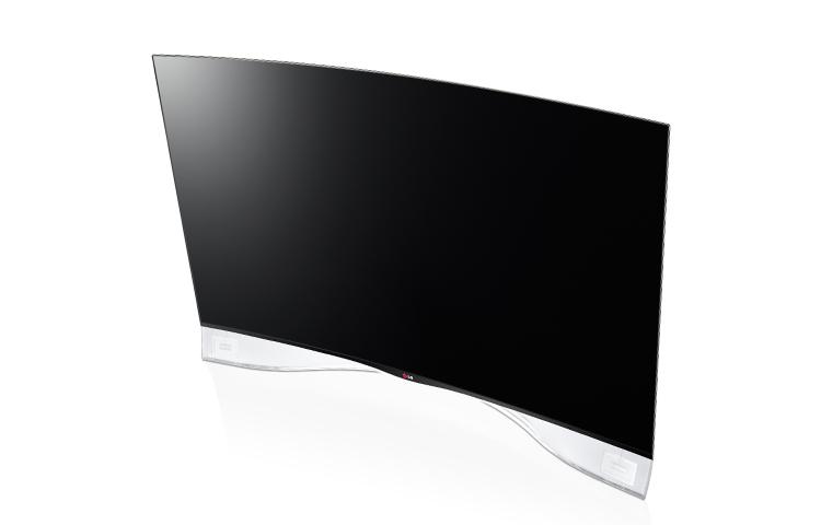 TV com tela curva impressiona pelo design com partes transparentes e acabamento em fibra de carbono (Foto: Divulgação/LG)