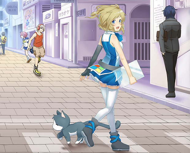 Personagem da Microsoft é heroína em um anime no YouTube (Foto: Reprodução/The Verge)
