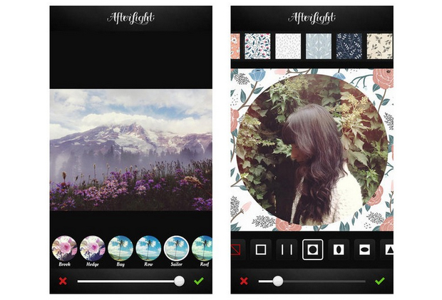 Afterlight tem 56 filtros e 75 molduras ajustáveis para suas fotos (Foto: Reprodução/Mashable)