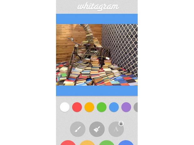 Além de manter as dimensões da foto, Whitagram é integrado a outros apps de edição (Foto: Reprodução/Mashable)