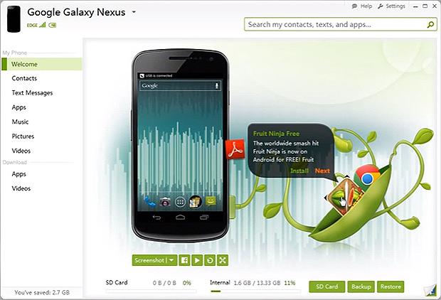 O SnapPea facilita o gerenciamento dos arquivos gravados no smartphone por meio do PC ou pela web (Foto: Reprodução/Google Play)