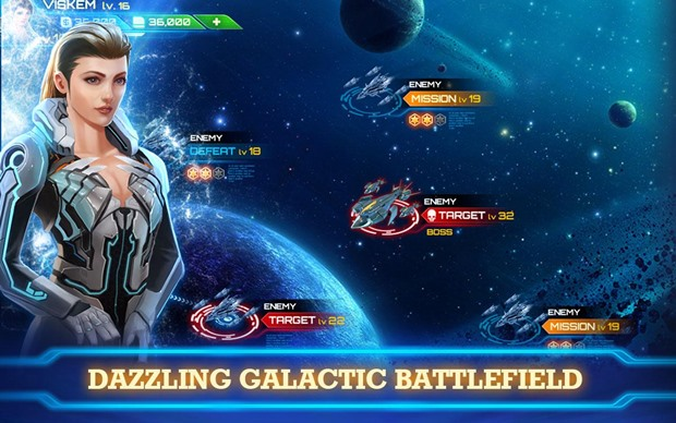 Galaxy Legend permite que o jogador escolha entre combates ou simulação (Foto: Divulgação)