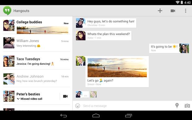 Hangouts para Android ficou ainda mais completo (Foto: Divulgação)